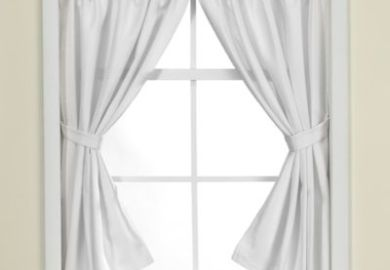 Buy Westerly Bathroom Window Curtain Pair In Black From