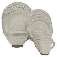 Sango Cyprus 16-Piece Dinnerware Set in White - Bed Bath ...