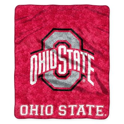 Ohio State University Sherpa Throw Blanket by The