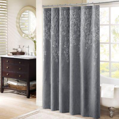 Madison Park Tara Embroidered Shower Curtain  Bed Bath