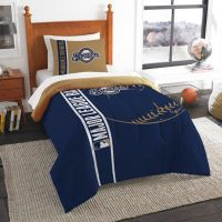 Buy MLB Milwaukee Brewers Printed Twin Comforter by The ...