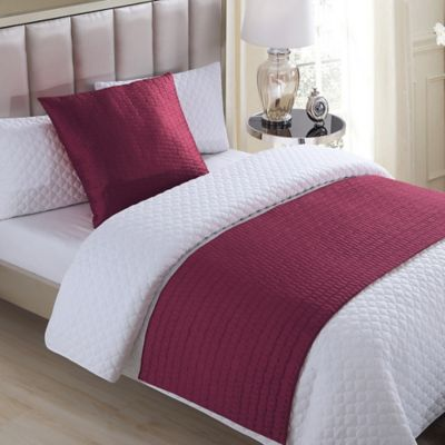 Buy Vcny Serna Quilted Bed Runner In Red From Bed Bath