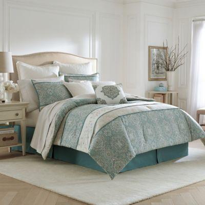 Laura Ashley Ardleigh Comforter Set in Light Blue  Bed