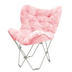 Dorm Chairs Bed Bath And Beyond Antique Metal Buy Mongolian Fur Butterfly Chair In White From &