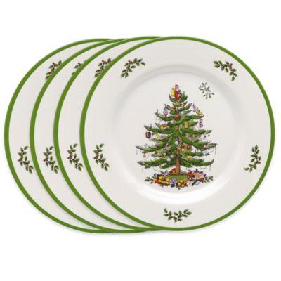 Buy Spode Christmas Tree Melamine Dinner Plates (Set of 4