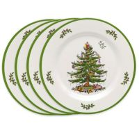 Buy Spode Christmas Tree Melamine Dinner Plates (Set of 4