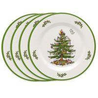 Buy Spode Christmas Tree Melamine Dinner Plates (Set of 4 ...