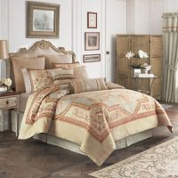 Croscill Lorraine Comforter Set in Light Blue/Gold