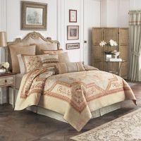 Croscill Lorraine Comforter Set in Light Blue/Gold - Bed ...