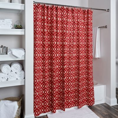 Buy Red Shower Curtains Bathroom From Bed Bath & Beyond