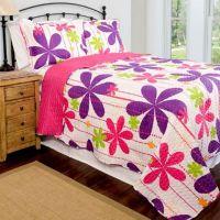 Pandora Reversible Quilt Set in Pink/Purple/Lime - www ...
