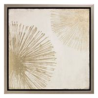 Metallic Sunburst Canvas Wall Art
