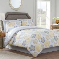Antonia Reversible Comforter Set in Yellow/Grey - Bed Bath ...
