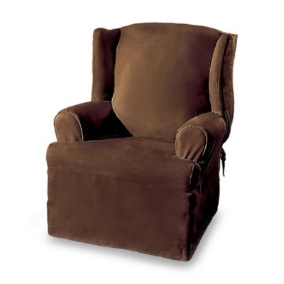 Sure Fit Soft Suede Wing Chair Cover  Bed Bath  Beyond