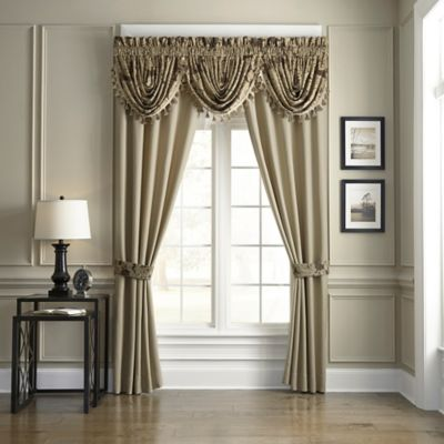 Croscill Sorina Window Curtain Panels and Valance  Bed