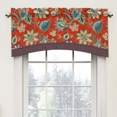 Red Kitchen Valance Remodeling Your Buy Valances Bed Bath Beyond Waverly Brighton Blossom Arch In