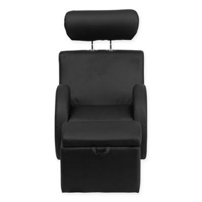 toddler chair and ottoman hook on vs high buy bed bath beyond flash furniture hercules kids vinyl rocking in black