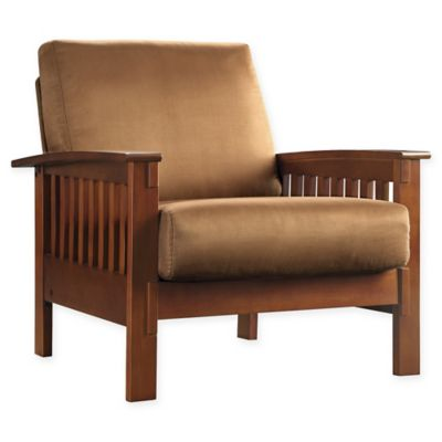 oak kitchen chairs vent fan buy bed bath and beyond canada verona home brixton mission arm chair in rust