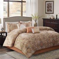 Yvette Comforter Set in Coral - Bed Bath & Beyond