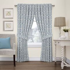 Waverly Kitchen Curtains Appliance Package Donnington Damask Window Panel And Valance - Bed ...
