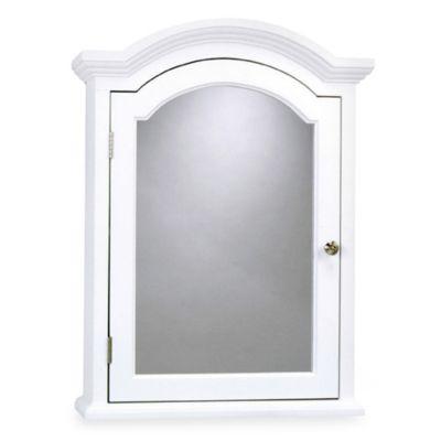 Arch Crown Molding White Medicine Cabinet  Bed Bath  Beyond