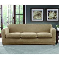 Slipcover Sofa Bed Bath Beyond Leather Corner With Recliners Sure Fit® Ultimate Stretch Chenille 3-cushion ...