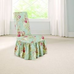 Sure Fit Chair Covers Bed Bath And Beyond Koken Barber Model Numbers Buy Fit® Ballad Bouquet By Waverly™ Dining Room Slipcover In Robin's Egg Blue From ...