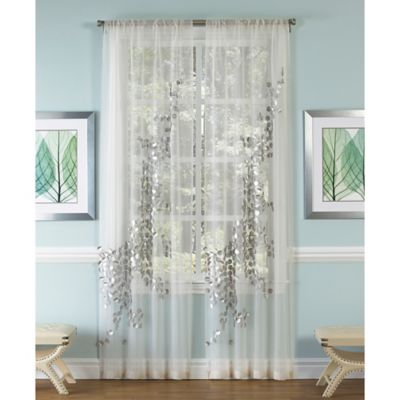 Buy Silver Sheer Curtains From Bed Bath & Beyond