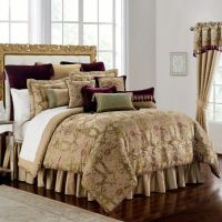 Waterford Linens Carlotta Comforter Set in Gold - Bed ...