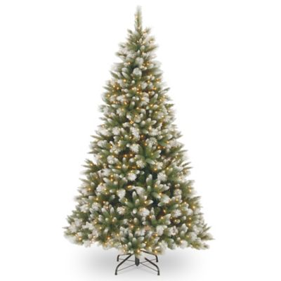 National Tree 75 Foot Frosted Alaskan Pine Pre Lit
