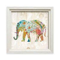 Buy Bohemian Paisley Elephant II Framed Wall Art from Bed ...