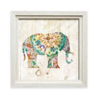 Bohemian Paisley Elephant I Framed Wall Art