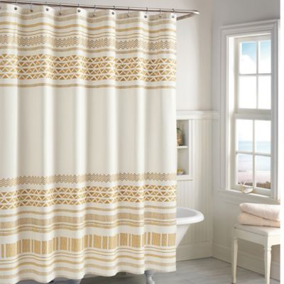 CHF Industries Kalamata Shower Curtain in Gold  Bed Bath  Beyond
