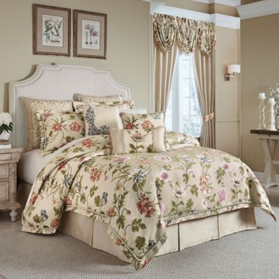 bed bath beyond chairs grey dining table and croscill® daphne comforter set - &