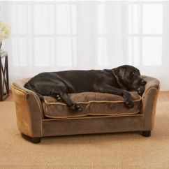 Panache Sofa Pet Bed Burbank Range Enchanted Home Upholstered Ultra Plush In ...