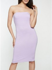 Soft Knit Tube Dress in Lavender Size: Medium