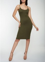 Cami Bodycon Dress in Olive Size: Medium