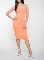 Cami Bodycon Dress in Coral Size: Medium