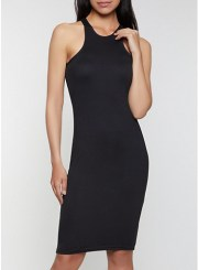 Racerback Tank Dress in Black Size: Medium