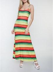Color Block Maxi Dress Size: Medium