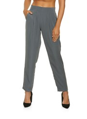 Pintuck Dress Pants in Gray Size: Medium