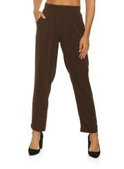 Pintuck Dress Pants in Brown Size: Medium