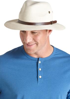Coolibar Upf 50 Men' Smartstraw Packable Golf Hat