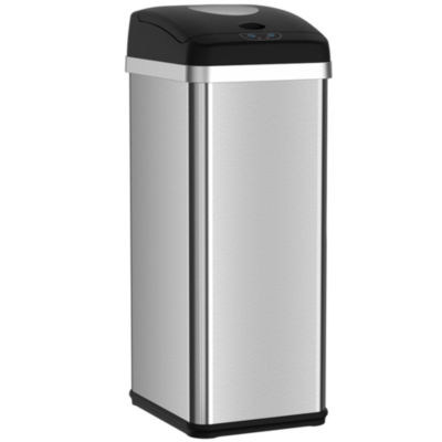 13 gallon kitchen trash can cabinet distributors itouchless halo touchless compactor automatic stainless steel sensor