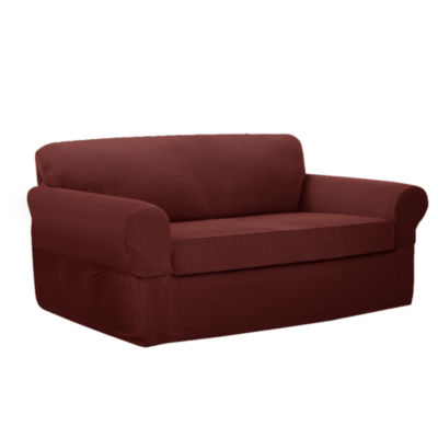 jcpenney sofa sets standard size of one seater maytex connor stretch slipcover