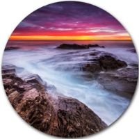 Design Art Stormy Seashore with Colorful Sky BeachPhoto ...