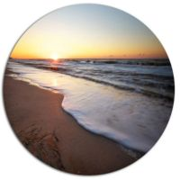 Designart Seashore under Fiery Sunset Sky Disc Seashore ...