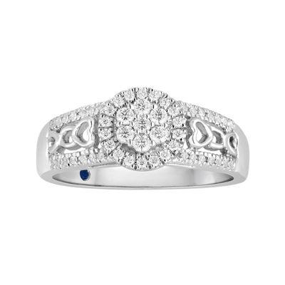 I Said Yes 1/3 CT. T.W. Diamond Flower