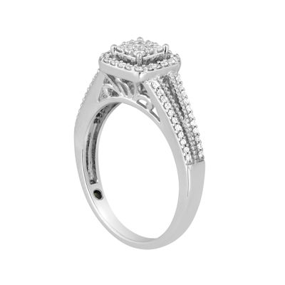 I Said Yes 3/8 CT. T.W. Diamond Framed Platinaire