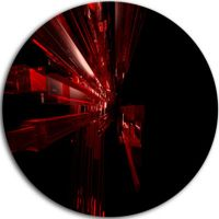 Design Art 3D Red Crystal Background Abstract Round Circle ...